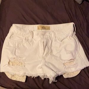 Hollister white high rise shorts size 9